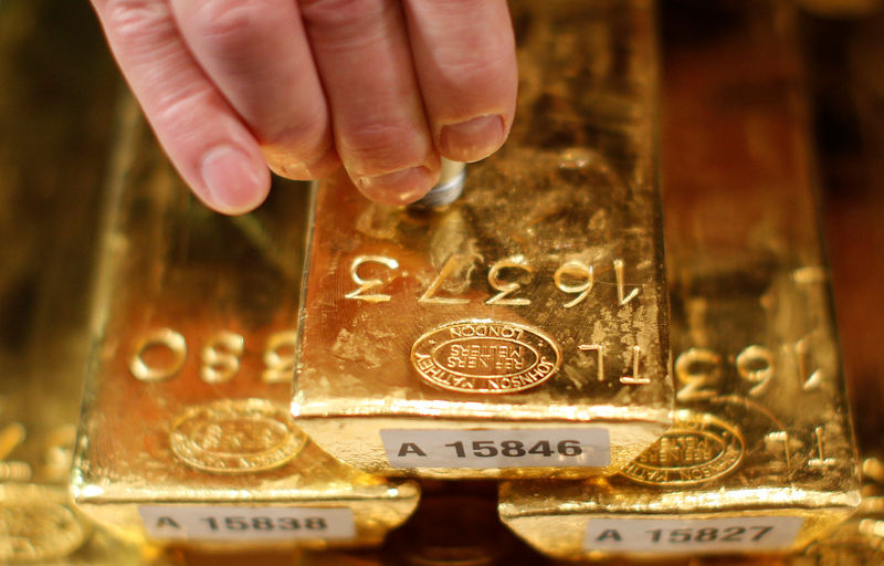 Gold falls on firm dollar, U.S. economy re-open hopes